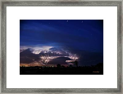 Time Stack Over Amarillo Framed Print by Karen Slagle