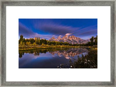 Time Stops Over Tetons Framed Print by Edgars Erglis