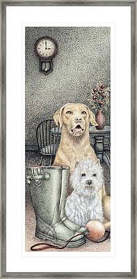Time To Walk Framed Print by Sandra Moore