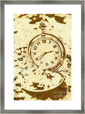 Time Worn Vintage Pocket Watch Framed Print by Jorgo Photography - Wall Art Gallery