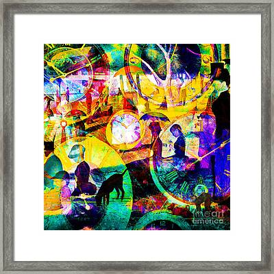 Timeless Art A Sunday On La Grande Jatte 20160229 Square Framed Print by Wingsdomain Art and Photography