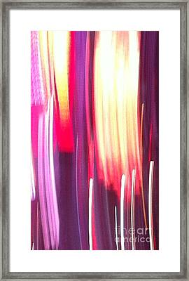 Times Square 18 Abstract Framed Print by Ken Lerner