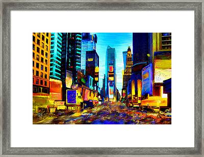 Times Square Framed Print by Andrea Meyer