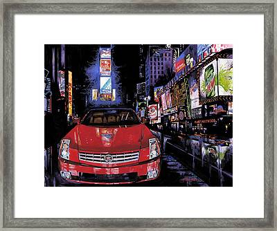 Times Square ....cadillac Framed Print by Mike Hill