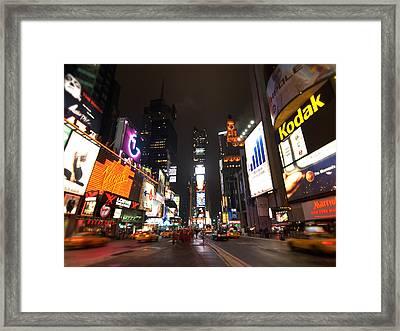 Times Square Framed Print by John Gusky