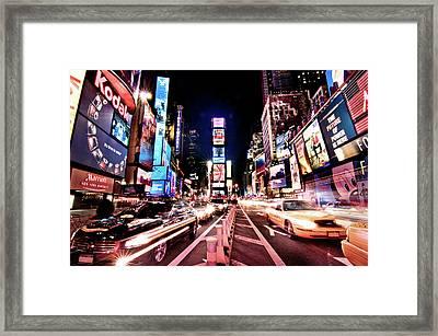 Times Square, Manhattan, New York Framed Print by Josh Liba