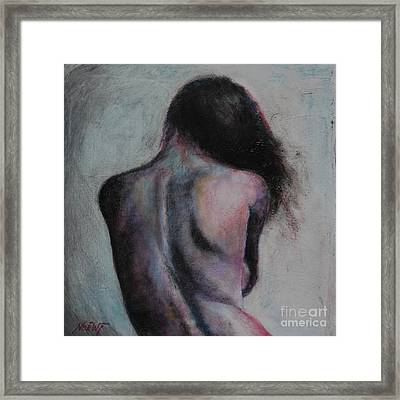 Timid Heart Framed Print by Jindra Noewi