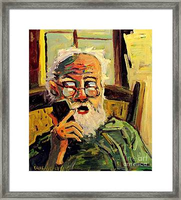Timothy,best Friend Framed Print by Charlie Spear