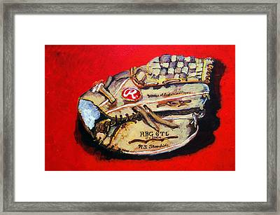 Tim's Glove Framed Print by Jame Hayes