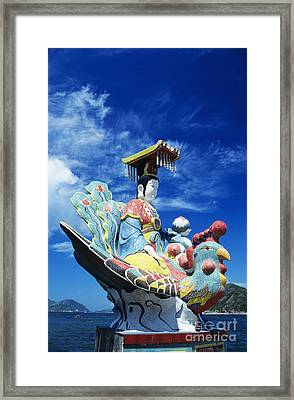 Tin Hua Temple Closeup Of Colorful Statue Framed Print by Gloria and Richard Maschmeyer - Printscapes