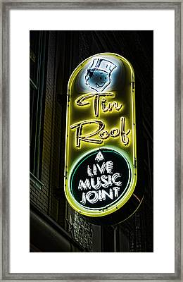 Tin Roof - Gritty Framed Print by Stephen Stookey