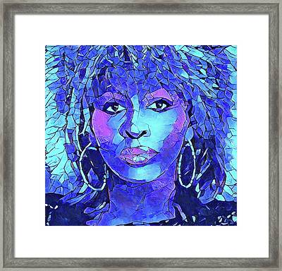 Tina Turner Abstract Portrait Framed Print by Dan Sproul