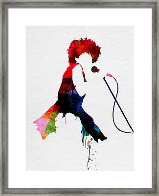 Tina Watercolor Framed Print by Naxart Studio