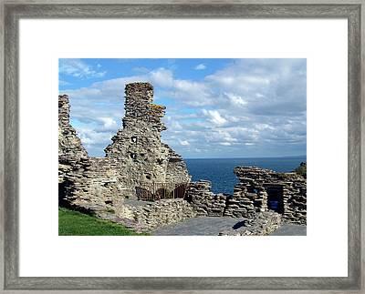 Tintagel Castle 1 Framed Print by Kurt Van Wagner