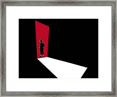 Tintin Man Of Mystery Framed Print by Anshie Kagan