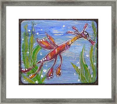 Tiny Anthropomorphic Sea Dragon 2 Framed Print by Michelley QueenofQueens