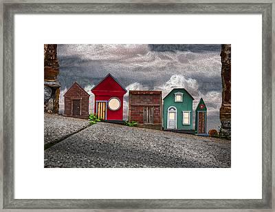 Tiny Houses On Walnut Street Framed Print by John Haldane