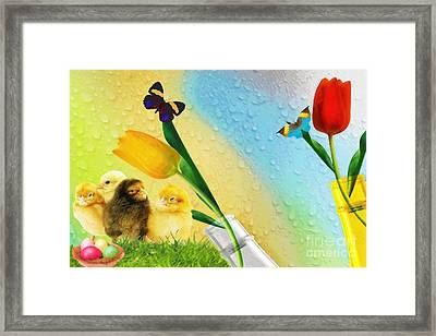 Tiptoe Through The Tulips Framed Print by Liane Wright