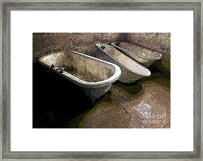 Tired Tubs 3 Framed Print by Norman  Andrus