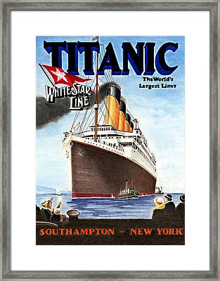 Titanic For My Wife Framed Print by Lyle Brown