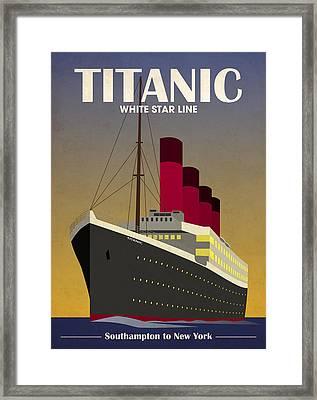 Titanic Ocean Liner Framed Print by Michael Tompsett