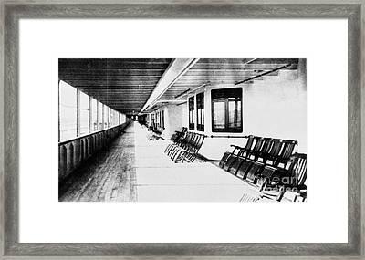 Titanic: Promenade Deck Framed Print by Granger