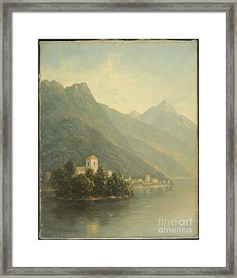 Title Lake In The Mountains Framed Print by Thomas Addison