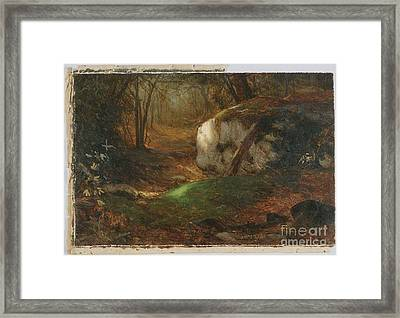 Title Mossy Bank Framed Print by MotionAge Designs