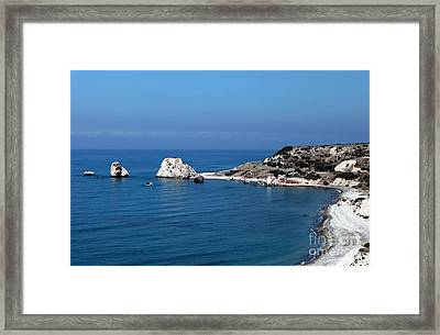 To Aphrodite's Rocks Framed Print by John Rizzuto