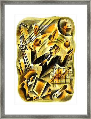To Be A Businessman Framed Print by Leon Zernitsky