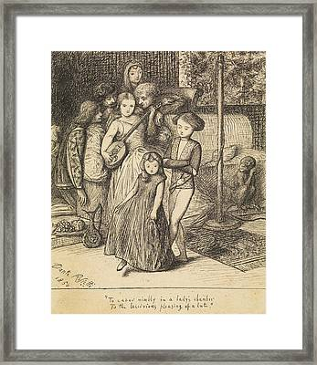 To Caper Nimbly In A Lady's Chamber To The Lascivious Pleasing Of A Lute Framed Print by Dante Gabriel Rossetti