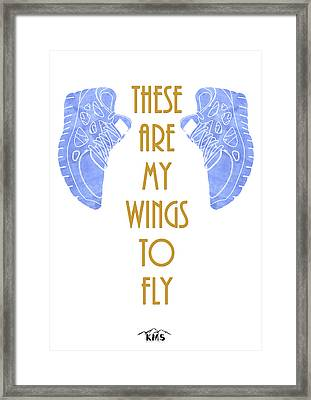 To Fly. Framed Print by Keep Making Smiles