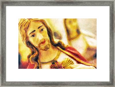 To Jesus Framed Print by Davy Cheng