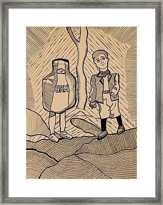 To Kill A Mockingbird Illustration I Framed Print by Laura Van Veen