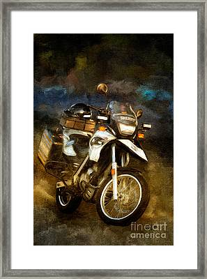 To Protect And Serve Framed Print by Lois Bryan