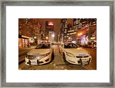To Serve And Protect Framed Print by Evelina Kremsdorf