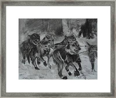 To The Finish Framed Print by Diana Kaye Obe