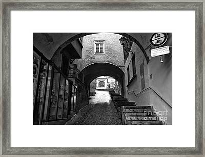 To The Light In Salzburg Framed Print by John Rizzuto