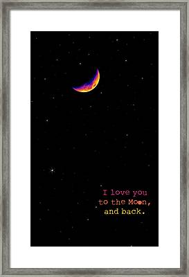 To The Moon And Back Framed Print by Rheann Earnest