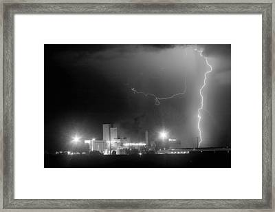 To The Right Budweiser Lightning Strike Bw Framed Print by James BO  Insogna
