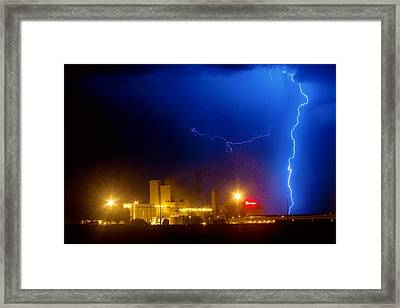 To The Right Budweiser Lightning Strike Framed Print by James BO  Insogna