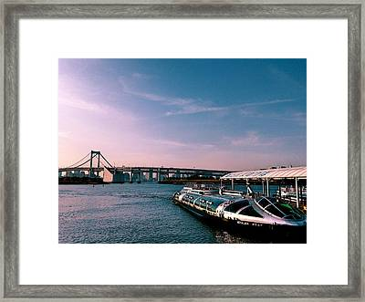 To The Space From Sea Framed Print by Momoko Sano