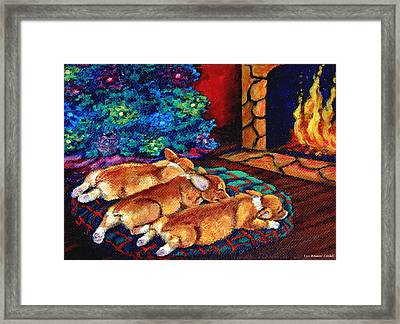 Toasty Toes Framed Print by Lyn Cook