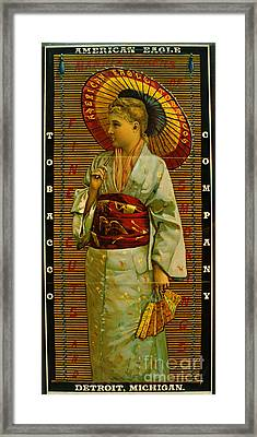 Tobacco Ad 1884 Framed Print by Padre Art