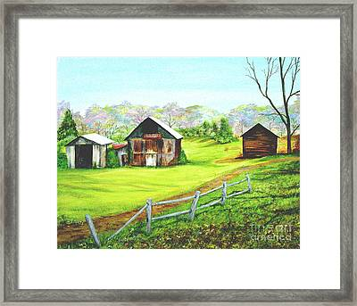 Tobacco Barns North Carolina Framed Print by Pauline Ross