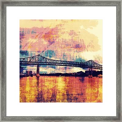 Tobin Bridge Boston Ma Framed Print by Brandi Fitzgerald