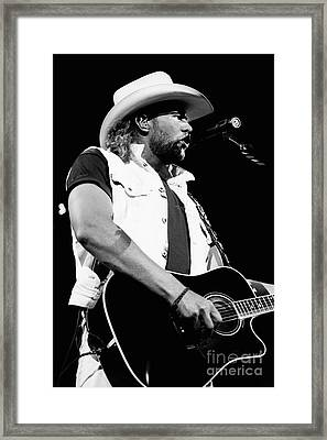 Toby Keith 95-1552 Framed Print by Gary Gingrich Galleries