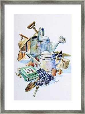 Todays Toil Tomorrows Pleasure I Framed Print by Hanne Lore Koehler