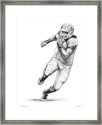 Todd Gurley Framed Print by Greg Joens