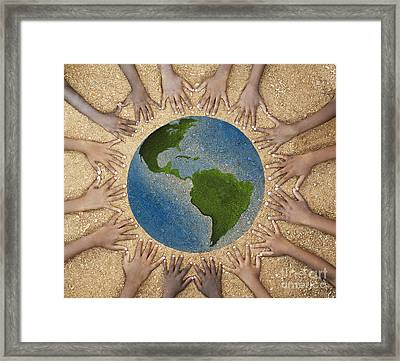 Together Framed Print by Tim Gainey